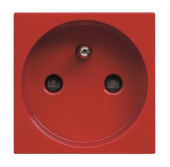 Розетка 2P+E, с защитными шторками,  французский стандарт красная,  для специальных сетейZenit : АСТ-Светотехника Киев SVT.org.UA
