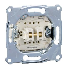 Механізм 1-полюсного 2-кнопкового  вимикача з 1 замикаючим контактом  і 1 розмикаючим контактом : АСТ-Світлотехніка Київ SVT.org.UA