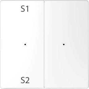 Клавіши для модуля 2-кнопкового  вимикача (сцена1/2, порожній)  PlusLink : АСТ-Світлотехніка Київ SVT.org.UA
