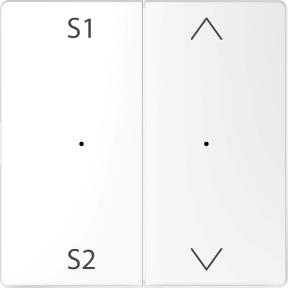 Клавіша для модуля 2-кнопкового  вимикача (сцена 1/2, вверх/вниз)  PlusLink : АСТ-Светотехника Киев SVT.org.UA