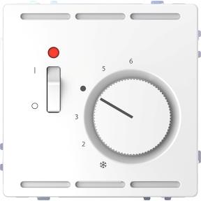 Регулятор температури в приміщенні  230 В з перемикачем і  центральною платою,  термопласт, метал : АСТ-Світлотехніка Київ SVT.org.UA