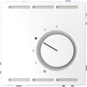 Регулятор температури в приміщенні  24 В с перемикаючим контактом  на два напрямки і центральною платою,  термопласт, метал : АСТ-Світлотехніка Київ SVT.org.UA
