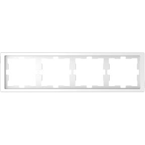 Рамка D-Life, 4 поста, термопласт : АСТ-Світлотехніка Київ SVT.org.UA