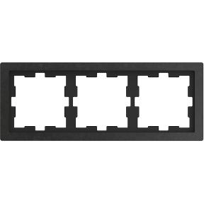Рамка D-Life, 3 поста,камінь полірований : АСТ-Світлотехніка Київ SVT.org.UA