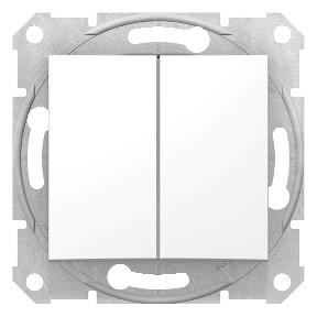 Двуклавішний вимикач  10 AX - 250 V : АСТ-Світлотехніка Київ SVT.org.UA