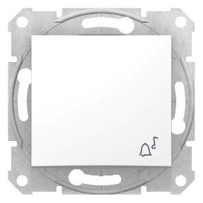 Одноклавішний кнопковий вимикач  з символом «дзвінок»  10 A-250 В з пружинним зажимом : АСТ-Світлотехніка Київ SVT.org.UA