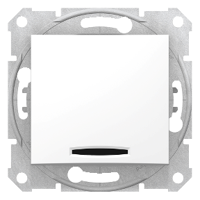 Двуполюсний одноклавішний  вимикач з червоною  індикацією 16 A-250 В : АСТ-Світлотехніка Київ SVT.org.UA