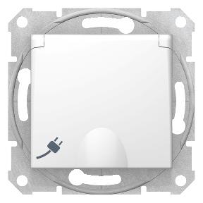 Розетказ заземленням 16 A - 250 В  з захисними шторками і кришкою,  2P+E, IP44 : АСТ-Світлотехніка Київ SVT.org.UA
